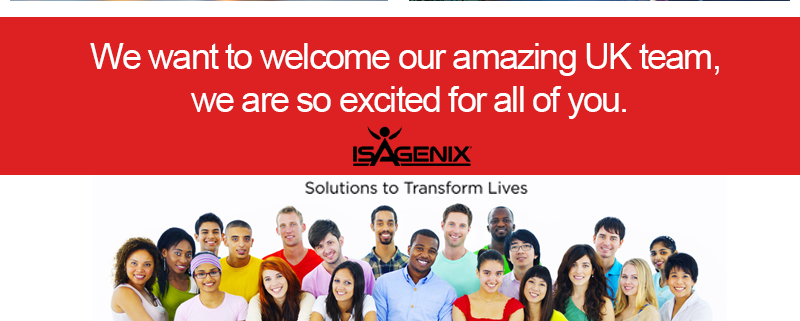 welcome to our amazing UK Isagenix Team